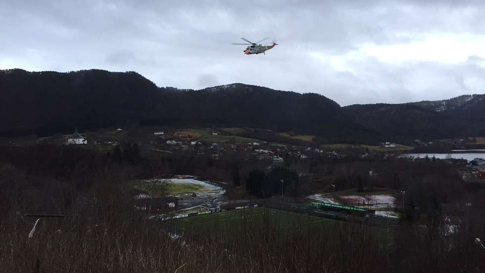 Sea King is in Hemne (Photo: John M. Myrhaug)